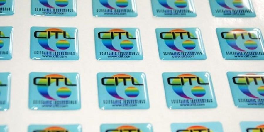 Mẫu tem dán logo nổi